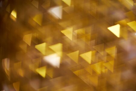 blurring: Blurring of different geometric shapes on a yellow background