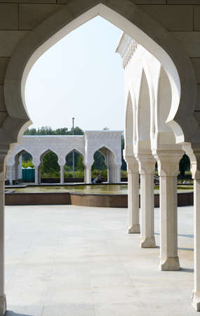 Bolgar city, Tatarstan, Russia - July 26, 2016: White mosque Editorial