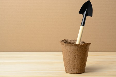 peat: Peat pot for seedlings and small shovel