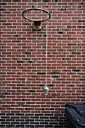 gritty: gritty backyard basketball ring Stock Photo