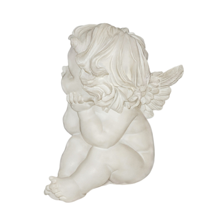 turn away: Angel is isolated on a white background