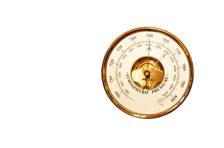 atmospheric pressure: Barometer is isolated on a white background