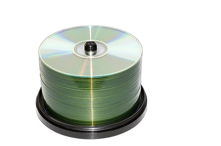 disks: Block of compact disks isolated on a white background