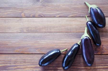 vegetable squash: Frame Eggplants vegetable squash in a row