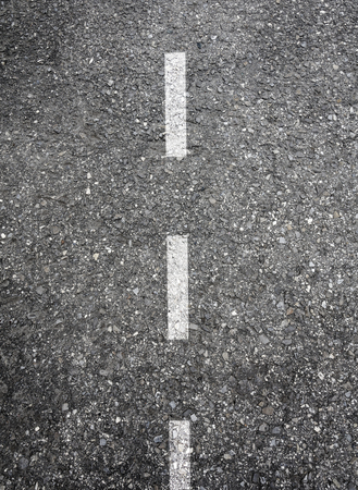 dotted line: Roadway with white dashed dotted line marking