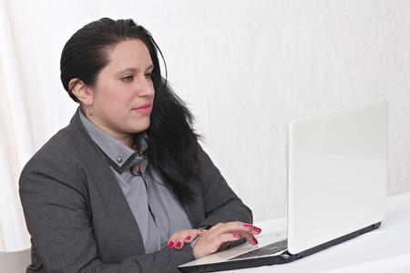 Heureuse femme d'affaires Banque d'images - 52520028