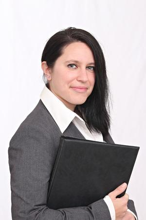 Heureuse femme d'affaires Banque d'images - 52520030