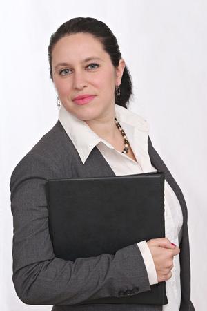 Heureuse femme d'affaires Banque d'images - 52520037