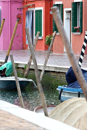 rain in burano Banque d'images - 103046085