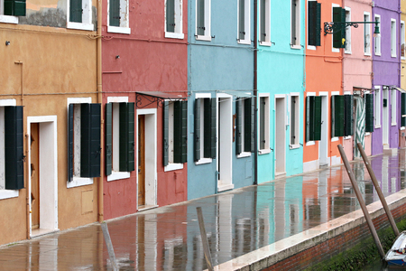 reflection in burano Banque d'images - 103049495
