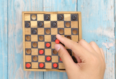 wooden board game Stock Photo
