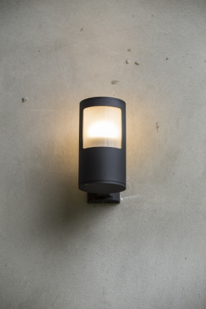 Lamp on wall photo