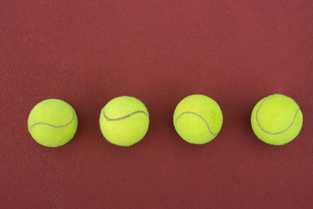avocation: Tennis Ball on the Court Close up
