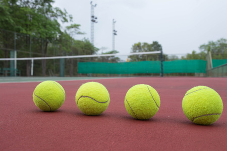 Tennis Ball on the Court Close up photo