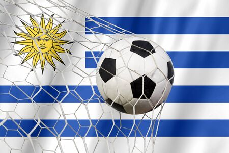 uruguay: URUGUAY soccer ball Stock Photo