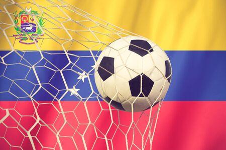 venezuela: Venezuela soccer ball vintage color