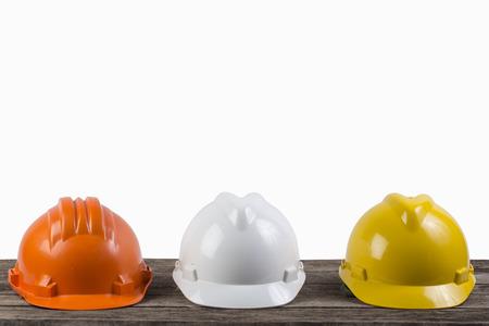 engineer working table plan on white background Standard-Bild