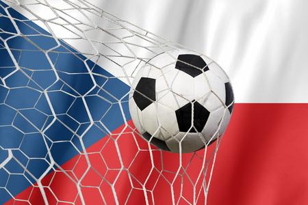 CZECH Symbol Fußball Standard-Bild - 43919717