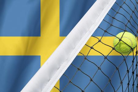 sweden flag: Sweden Flag and Tennis Ball
