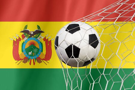 bandera de bolivia: Bandera de Bolivia con bal�n de f�tbol