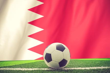 bahrain: BAHRAIN soccer ball vintage color
