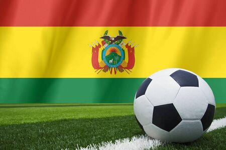 bolivia: Bolivia flag with soccer ball Stock Photo
