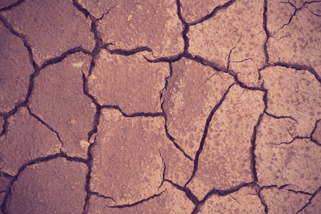 barrenness: Cracked and barren ground vintage color Stock Photo