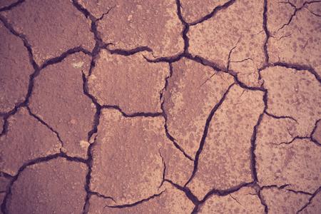 barren: Cracked and barren ground vintage color Stock Photo
