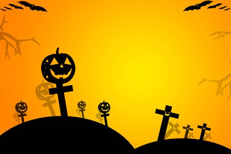 halloween background: Halloween background wtih spooky bats and pumpkins.Space for your Halloween holiday text.