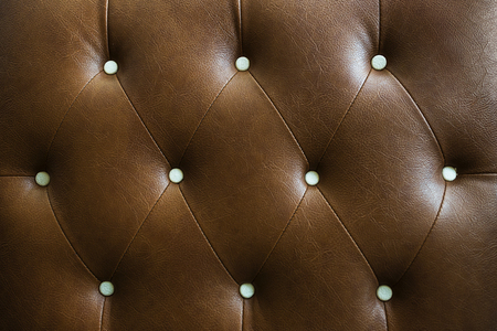 chambered: Genuine leather upholstery background for a luxury decoration in Brown tones