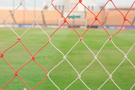soccer goal: blurry football and soccer goal net pattern Stock Photo