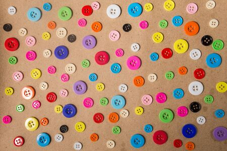 sewing buttons: Sewing buttons background. Colorful sewing buttons texture