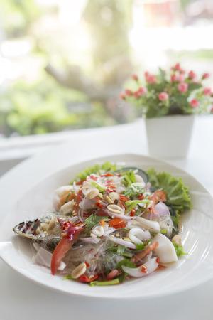 sen: yam wun sen, thai mung bean noodle salad
