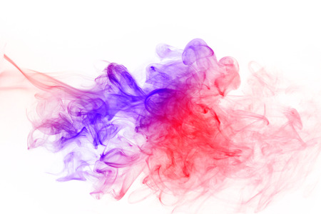 fume: Abstract colorful fume waves over the white background.Soft focus