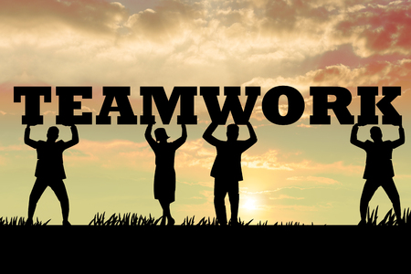 cooperate: Cooperate for Teamworkl .Teamwork concept