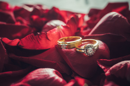 Wedding Ring in Rose, Will you marry me?,valentine Day Reklamní fotografie