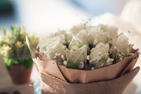 Wedding decoration bouquet and flowers - Image Reklamní fotografie - 121821147