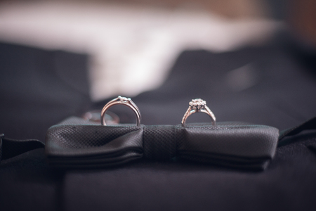 wedding rings,vintage picture style - Image