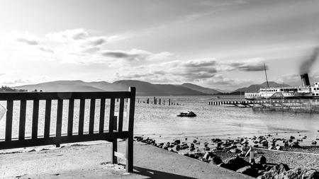 loch lomond: Landscape view of Loch Lomond Stock Photo