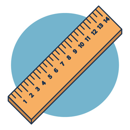 Vector wooden rulers in centimeter isolated on blue background Stock Vector - 124312585