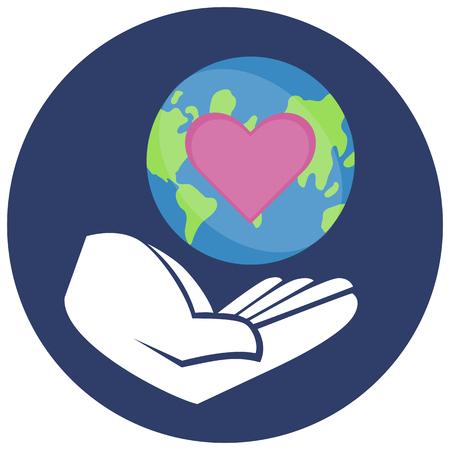 Vector illustration of a Sticker for World Environment Day. Illusztráció