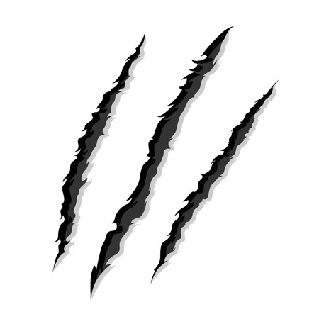 Illustration of Claw Scratches Ilustração Vetorial