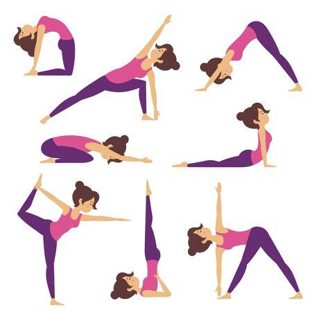 Illustration of Yoga Poses