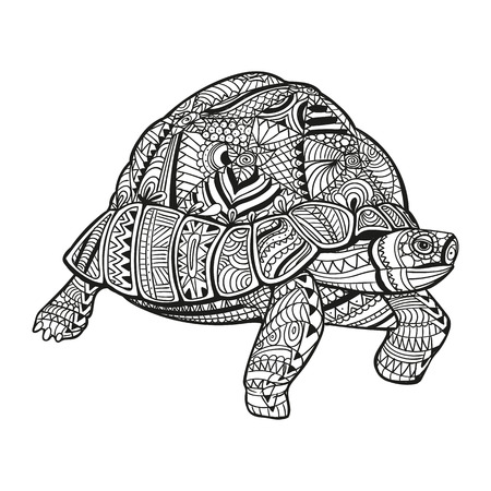 Illustration of an Abstract Ornamental Turtle