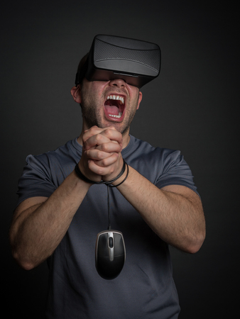 obsessed: Technology and video games addiction and modern mental illness. Anxiety and depedency for technology.