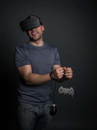 Pleasant addiction to virtual reality, videogames and technology.