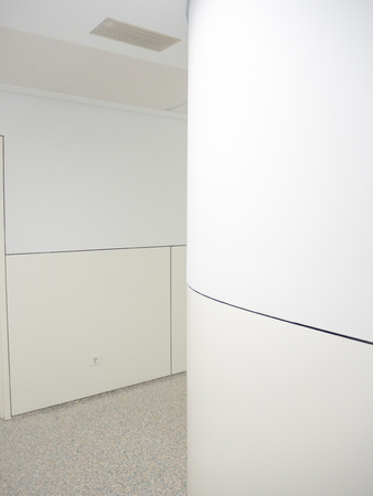 corridors: Hospital corridor with white and cream walls