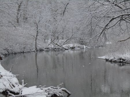 Snowy river Stok Fotoğraf