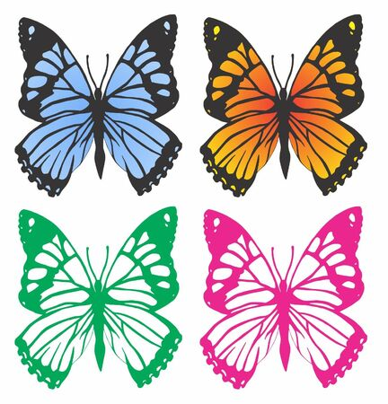 Butterflies Vector Pack Vector