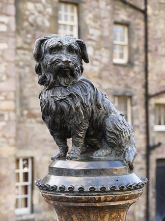 Statue tribute to the dog Greyfriars Bobby  Edinburgh